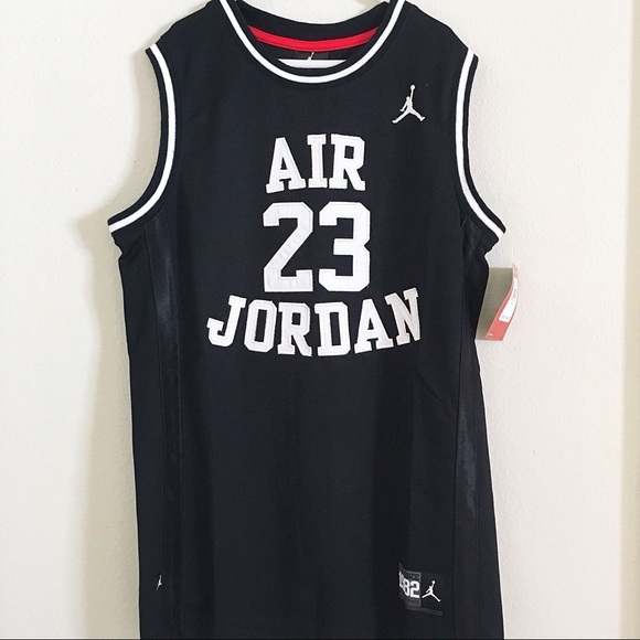 buy popular 3b516 44088 Nike Air Jordan 23 Black Basketball Jersey Size L NWT